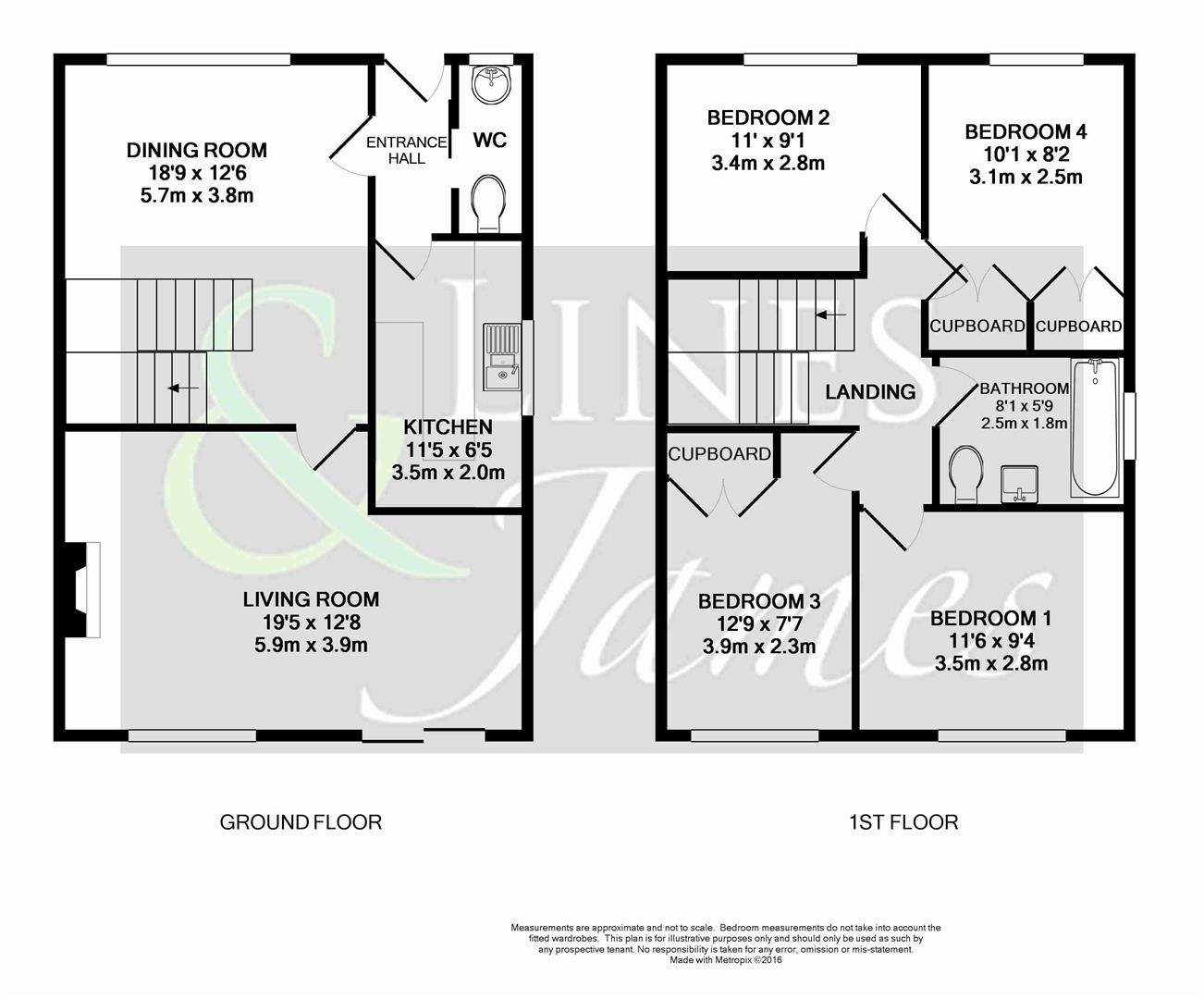 Floorplan for Allcard Close, Horsham